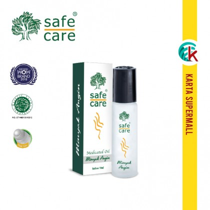 Safe Care Minyak Angin Medicated Oil Roll On 10ml x 12 Units