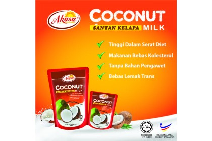 AKASA Coconut Milk Santan 200ml